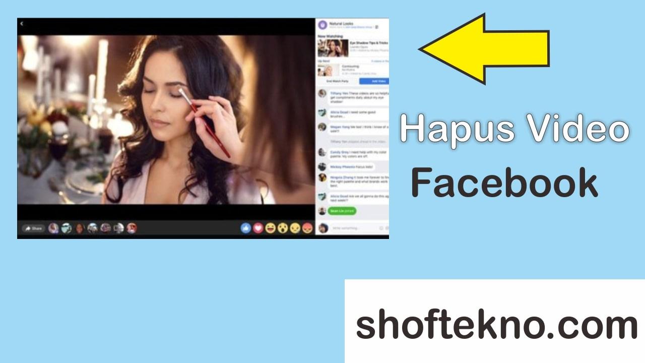 cara hapus video facebook yang sudah ditonton