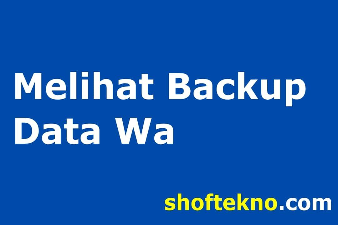cara melihat backup whatsapp