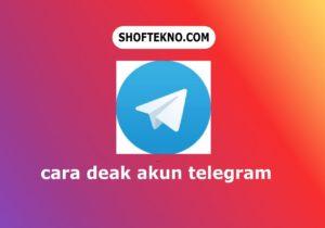 cara deak akun telegram