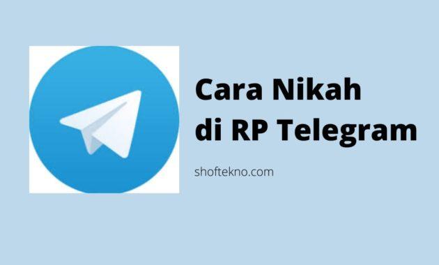 Cara Nikah di Rp Telegram