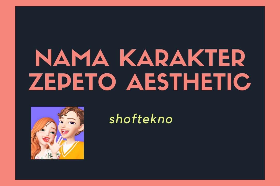 nama karakter zepeto aesthetic